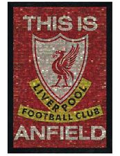 Liverpool FC Black Wooden Framed This Is Anfield LFC Maxi Poster 61x91.5cm