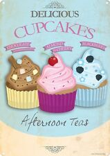 Delicious Cupcakes Tin Sign 30.5x40.5cm