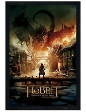 The Hobbit Black Wooden Framed Battle Of The Five Armies Maxi Poster 61x91.5cm