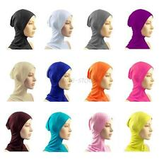 Cotton Elastic Soft Hijab Head Under Scarf Hat Cap Bonnet Neck Cover Islamic F45