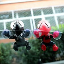 Cute Spider Man Suction Cup Doll Car Display Window Mirror Dashboard Decoration