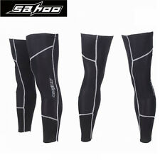 Cycling Bike Bicycle Reflective Windproof Fleece Leg Warmer Covers Guard Knee