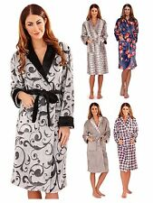 Womens Full Length Dressing Gown Bath Robe Housecoat + Belt Ladies Size UK 6-16