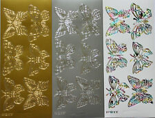 Large Butterfly Peel Off Sticker Sheet For Card Making Craft Choice Of Colours