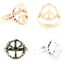 Vintage retro style peace sign ring multiple choices