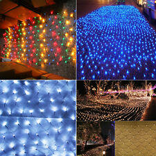 3x2M 320 LED Green Cable Christmas Net Fairy Lights In/Outside Xmas Tree Party