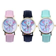 New Elephant Pattern Leather Watch Women Dress Watch Analog Quartz Wrist Watches