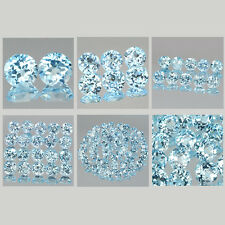 5mm Lot 2,6,10,20,50pcs Round Cut Natural Earth-Mined Sky Blue TOPAZ