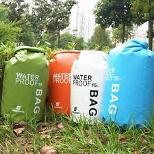 15L Foldable Waterproof Dry Bag for Outdoor Rafting Drifting Swimming E5LC