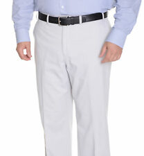 Michael Kors Mens Solid Stone Gray Flat Front Washable Cotton Casual Pants