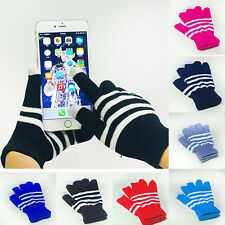 New Unisex Winter Magic Touch Screen Knitted Gloves Smartphone Texting One Size
