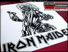 Iron Maiden Album Cover EDDIE & Text Logo Vinyl Decal Sticker Car Truck Window
