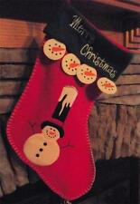 Christmas 3D Embroidered Snowman w/ Candle Stocking