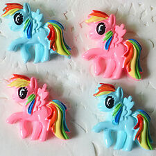 10x Cartoon Lovely My Little Pony Resin Flatback Scrapbook DIY Crafts Decoration