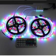 10M 3528 SMD RGB 600LEDS FLEXIBLE STRIP LIGHT+24/44KEY IR REMOTE CONTROLLER 5MX2