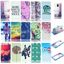 For Samsung Galaxy S6 S5 S4 I9500 S3 Luxury Painted Money Wallet Flip Cover Case