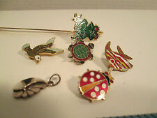 Lot of Cloissine Pins, Bookmark, Silver Pendant from Estate Jewelry Box