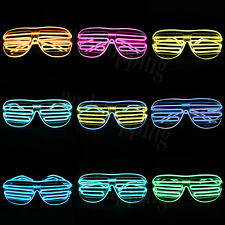 LED Light Flashing Glow Shutter Sunglasses Shade Glasses For Disco Party 9 Color
