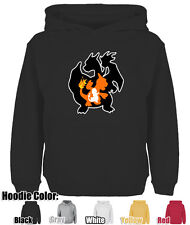 Mens Womens Cute Cartoon Charmander Charizard Pokemon  Sweatshirt Hoodie