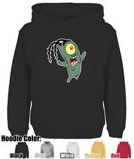 Mens Womens Cartoon Spongebob Plankton Cotton Blend Sweatshirt Hoodie