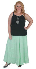 New Plus Size Mint Cotton Tiered Skirt Size 18 20 22 24 26 28 Cotton Lined