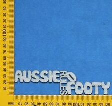 Chipboard Laser Cut Embellishment Footy/Football Words