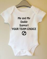 ME AND MY DADDY SUPPORT YOUR CHOICE PERSONALISED RUGBY FOOTBALL BABY BODY VEST