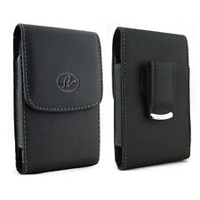 For Motorola Cell Phones Vertical Leather Belt Clip Case Pouch Cover Holster