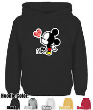Mens Womens Cute Disney Mr Mickey Mouse Kiss Cotton Blend Sweatshirt Hoodie