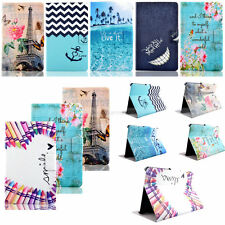 Luxury Paited Wallet Leather Case Cover For Samsung Galaxy Tab A E S S2 3 4