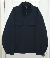 NEW Big Mens Sz 4XL 5XL DICKIES Softshell Navy Blue Water Wind Resistant Jacket