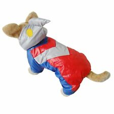 New Ultraman Large Pet Cat Dog Winter Soft Warm Clothes Apparel Hoodie Jumpsuit