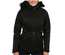 The North Face Womens Metrolina Jacket long down parka coat Black S-M NEW