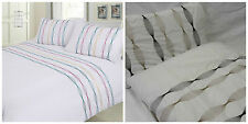 COT BED EMBROIDERY DUVET COVER & PILLOWCASE SET - SOUND WAVE