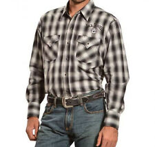 Jack Daniels Plaid Check Embroidered Western Cowboy Shirt Style 3