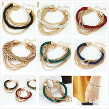 NEW Jewelry fashion Rope Cute Infinity Charm Bracelet Silver lots Style Pickup