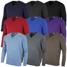 Calvin Klein Golf Mens CK V Neck Sweater Cotton Blend Pullover Jumper Top