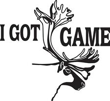I GOT GAME Hunting Moose Die Cut Decal Vinyl Sticker