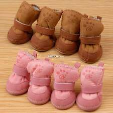 Lovely Snow Boots Pet Dog Chihuahua Boots Puppy Shoes Brown For Small Dog ESY1