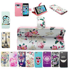 Stand Flip PU Leather Skin Card Wallet Cover Case For Samsung S6 Sony Z4 LG HTC
