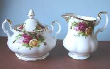 Royal Albert Old Country Roses Sugar Bowl & Creamer New