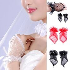 Sexy Lace Wrist Fingerless Wedding Evening Party Bridal Short Gloves Dress