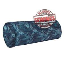 cbs-11-Peacock Feather Nice Chinese Brocade Cylinder Bolster Cover w Piping