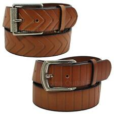 "100% Solid Cowhide Leather Belt Snap-On Removable Buckle Unisex Womens 1.5"" Wide"