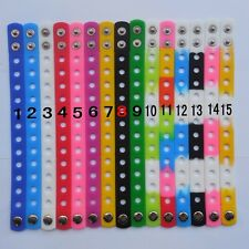 Wholesale Lot 18/21cm Silicone Wristbands Bracelets for Shoe Charms Decoration