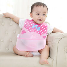 Cartoon Baby Infants Girl Boy Feeding Bibs Lunch Bib Saliva Burp Soft Clothes