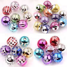 Wholesale 10/50Pcs Mixed Color Acrylic Round Spacer Loose Beads Jewelry Makings