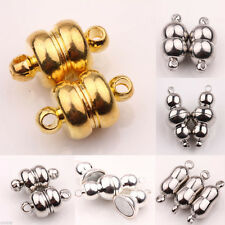 5/10 Sets White K/Silver/Gold Plated Calabash Shape Magnetic Clasps Jewelry DIY