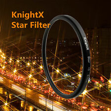 58mm +4+6+8 Point Star Cross Screen Filter for Nikon Canon light flare LENS dslr