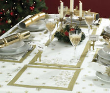 extra table  Cream/Gold Runner  Setting runner christmas Christmas Xmas Table long Snowflake Table 6 &